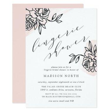 Secret Garden Lingerie Shower Invitations