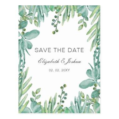 Sensational Succulents Wedding Save the Date Post
