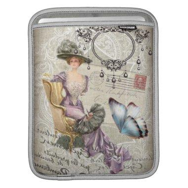 shabby chic chandelier Vintage victorian lady Sleeve For iPads