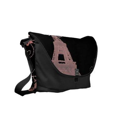 shabby chic french country pink paris eiffel tower courier bag