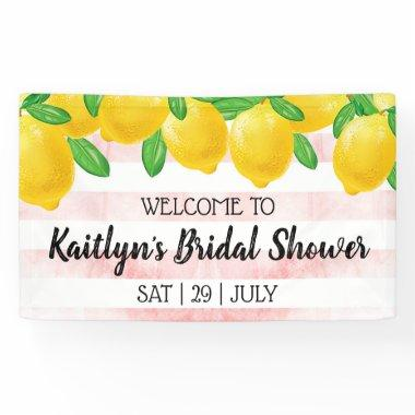 She Found Her Main Squeeze Lemon Bridal Shower Banner