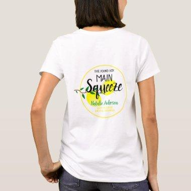 She Found Her Main Squeeze Lemons Bridal Shower T-Shirt