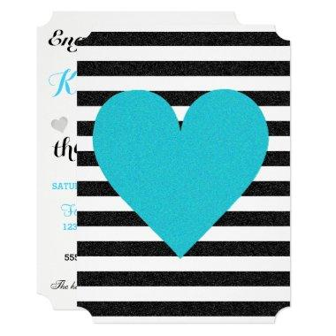 Shimmer Black And White Stripes Party