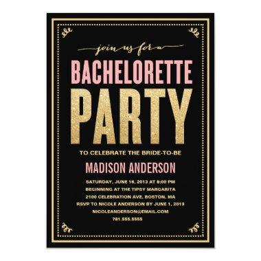 SHIMMER & SPARKLE | BACHELORETTE PARTY Invitations
