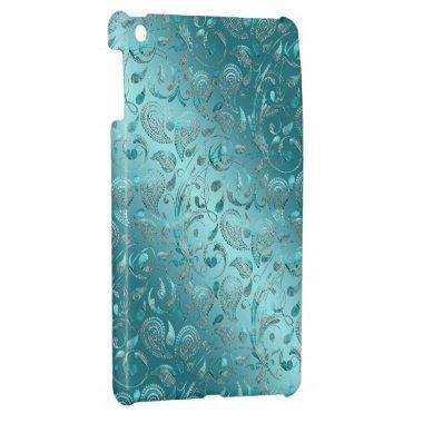 Shiny Paisley Turquoise iPad Mini Cover