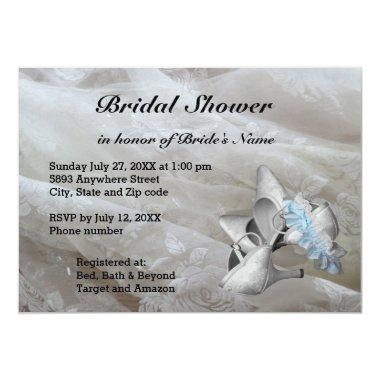 Shoes, Garter Belt and Lace Bridal Shower Invite