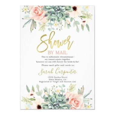 Shower by Mail Succulents Bridal Shower Invitations