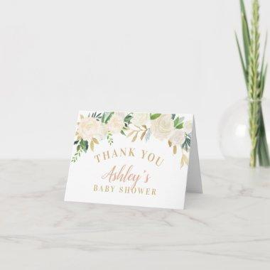 Shower Thank You Invitations | Neutral Watercolor Blooms