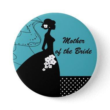 Silhouette Bride Mother of the Bride Button / Pin