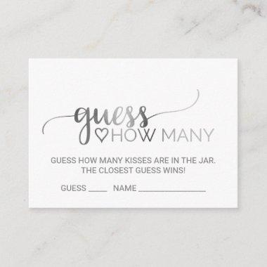 Silver Calligraphy Guess How Many Kisses