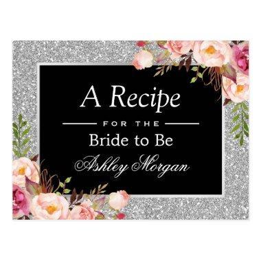 Silver Glitter Floral  Recipe
