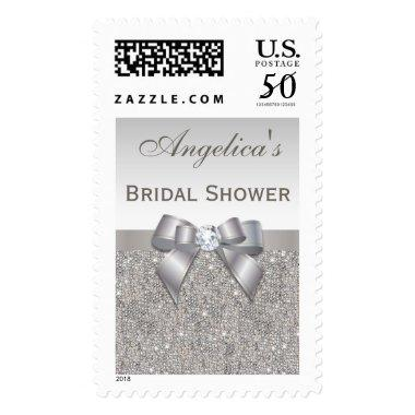 Silver Jewels Faux Bow  Postage