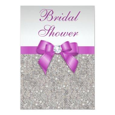 Silver Jewels Radiant Orchid Bow