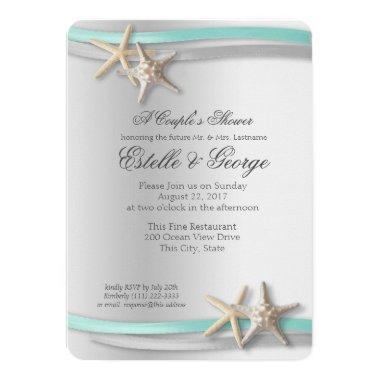 Silver Starfish and Ribbon Couple's Shower