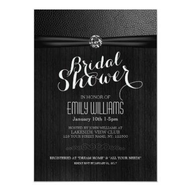 Simple and elegant bridal shower Invitations