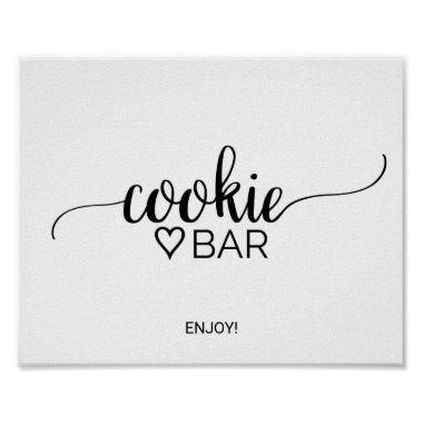 Simple Black Calligraphy Cookie Bar Sign