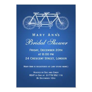 Simple  Tandem Bike Blue