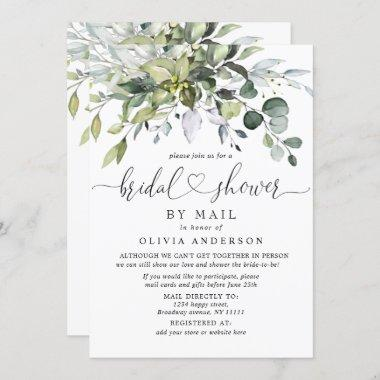 Simple Elegant Eucalyptus BRIDAL Shower By Mail Invitations