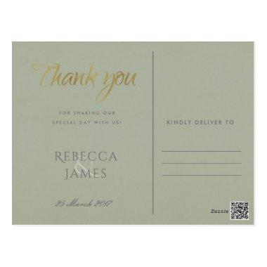SIMPLE ELEGANT GOLD GREY TYPOGRAPHY THANK YOU POST