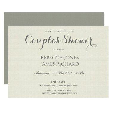 SIMPLE ELEGANT GREY TYPOGRAPHY COUPLES SHOWER