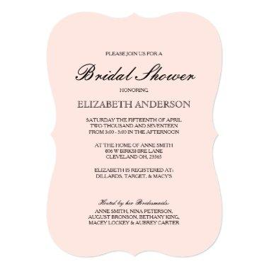Simple Elegant Typography Bridal Shower Invitations