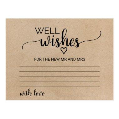 Simple Faux Kraft Calligraphy Well Wishes
