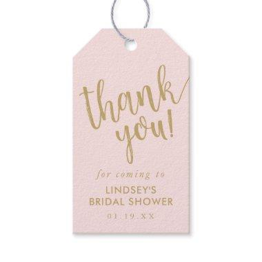 Simple Hand-Lettered Bridal Shower Thank You Favor Gift Tags