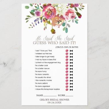 Simple Watercolor Bouquet Wedding Word Search Game