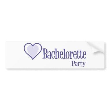 SingleHeart-BacheloretteParty-Ind Bumper Sticker