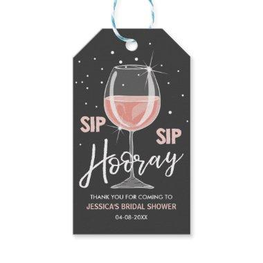 Sip Sip Hooray Tags Wine Bottle Pink Bridal Shower