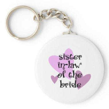 Sister In-Law of the Bride Keychain
