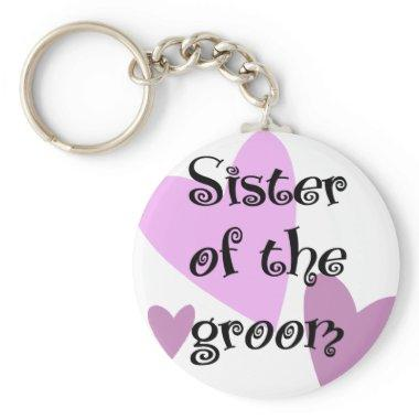 Sister of the Groom Keychain