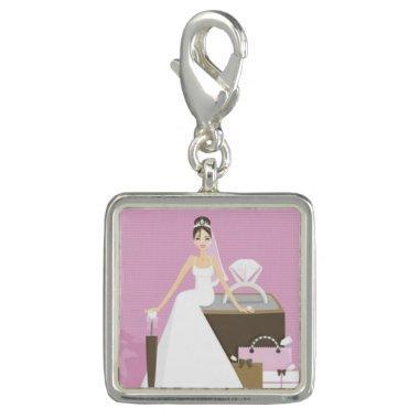 Sitting bride  charm