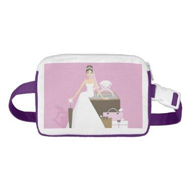 Sitting bride bridal shower fanny pack
