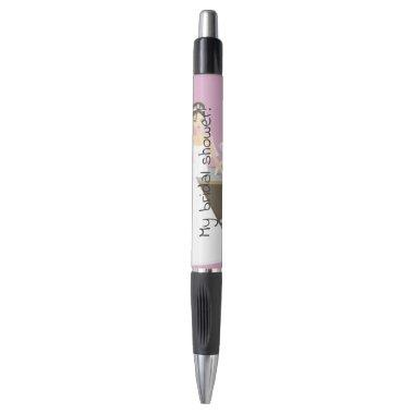 Sitting bride bridal shower pen