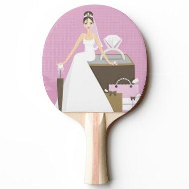 Sitting bride  ping pong paddle