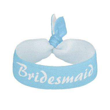 Sky blue and white Bridesmaid Elastic Hair Tie