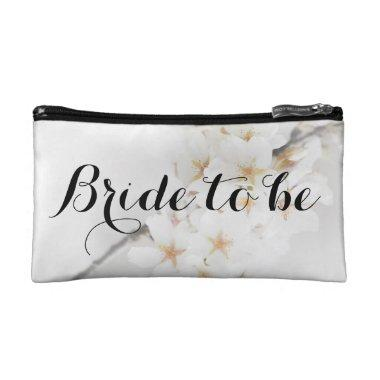 Small white cosmetic bag, bride to be cosmetic bag