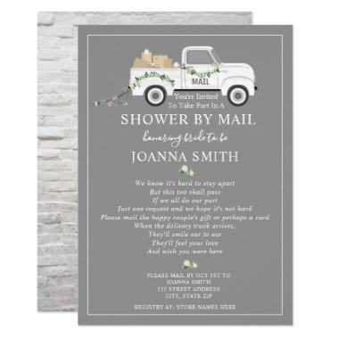 Social Distancing Wedding Shower Mail White Truck Invitations