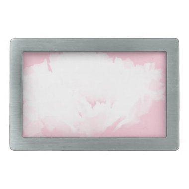 Soft Pink White Peony - Floral Belt Buckle