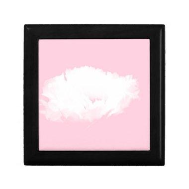 Soft Pink White Peony Floral Keepsake Box