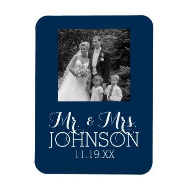 Solid Color Mr & Mrs Wedding or Anniversary Favor Magnet