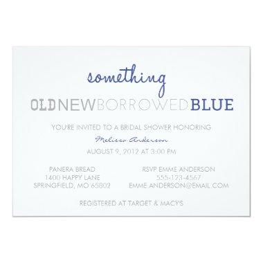 Something Old, New, Borrowed, Blue Invitations