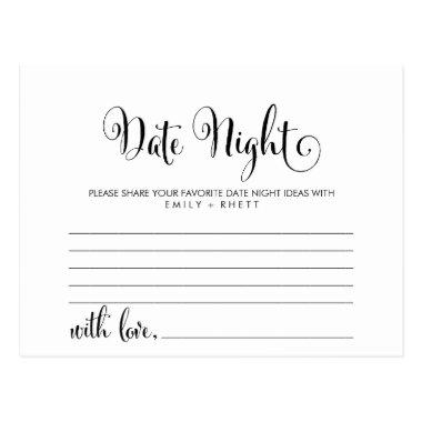 Southern Belle Calligraphy Date Night Idea Invitations