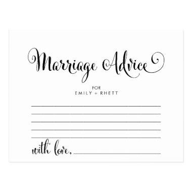 Southern Belle Calligraphy Marriage Advice Cards