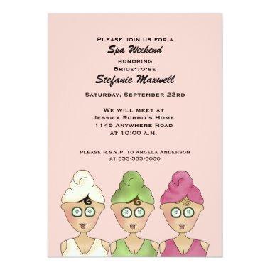 Spa Weekend Bridal Shower Invitations