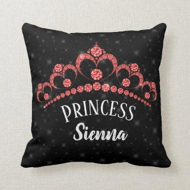 Sparkling Diamond Tiaras - choose your background Throw Pillow