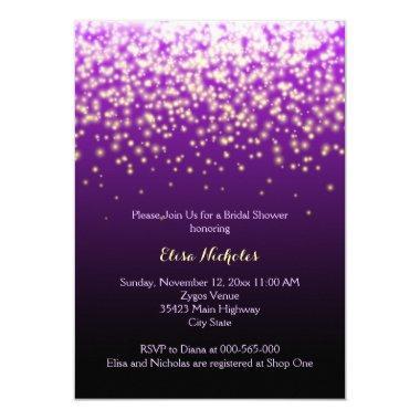 Sparkling lights purple wedding
