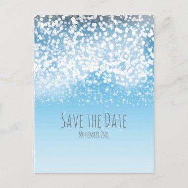 Sparkling Lights Winter Wonderland Save the Date Announcement PostInvitations