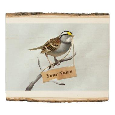 Sparrow Insert Your Name Here Wood Panel
